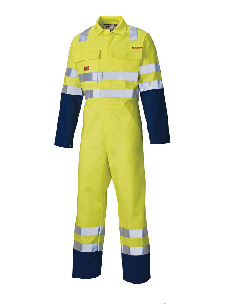 Dickies FR4870 Hi Vis Yellow Flame Retardant Coverall