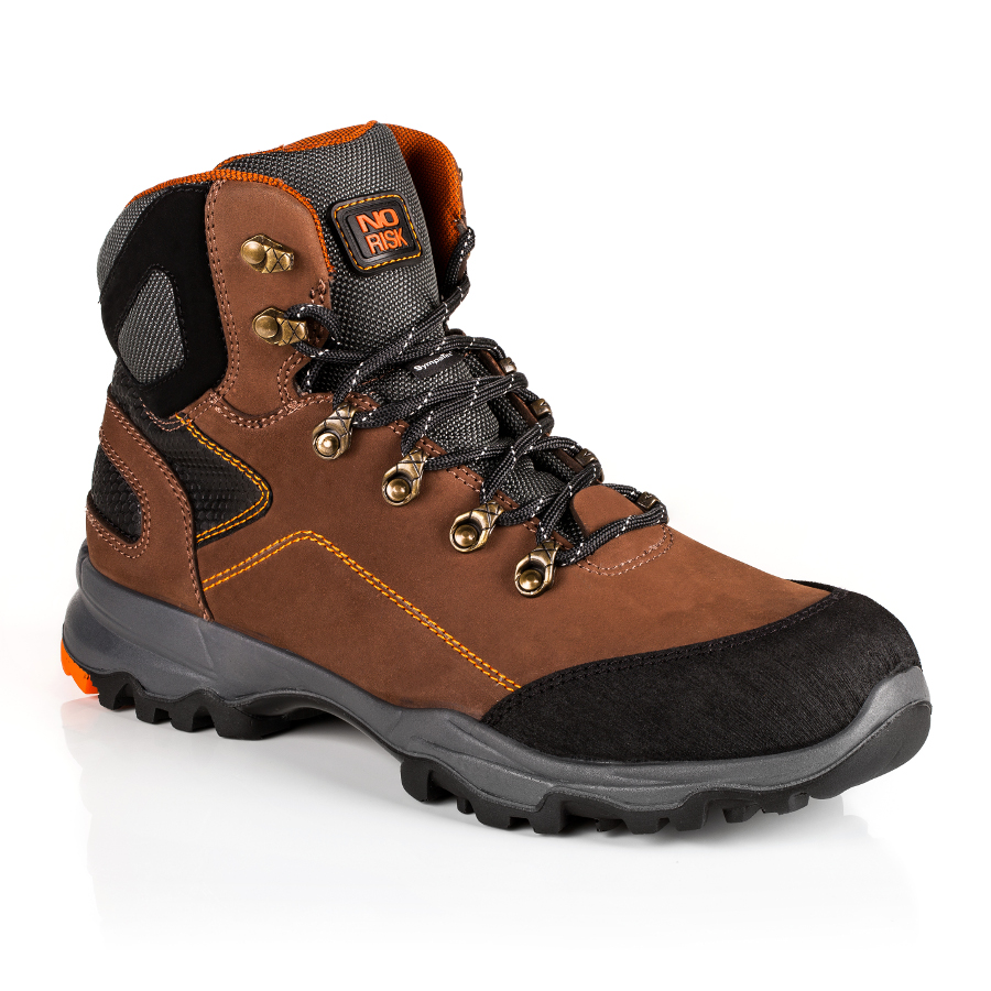 No Risk Saturne S3 Src Brown Safety Boot