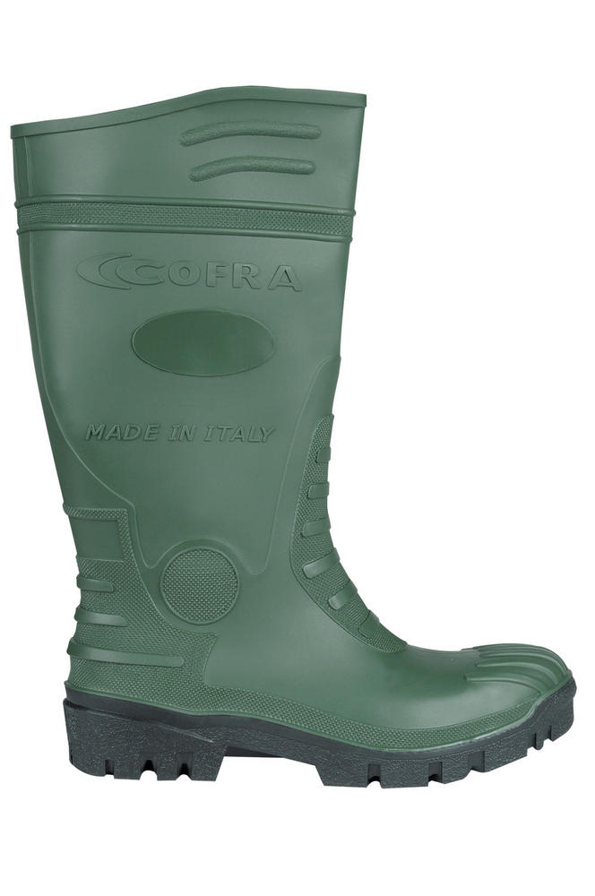 Cofra Typhoon Resistant To Mineral Oils Hydrocarbons S5 Green PVC Safety Wellington