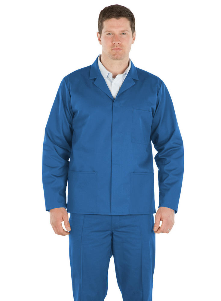 Harveys JK10 Front Stud Polycotton General Workwear Blue Driver Jacket