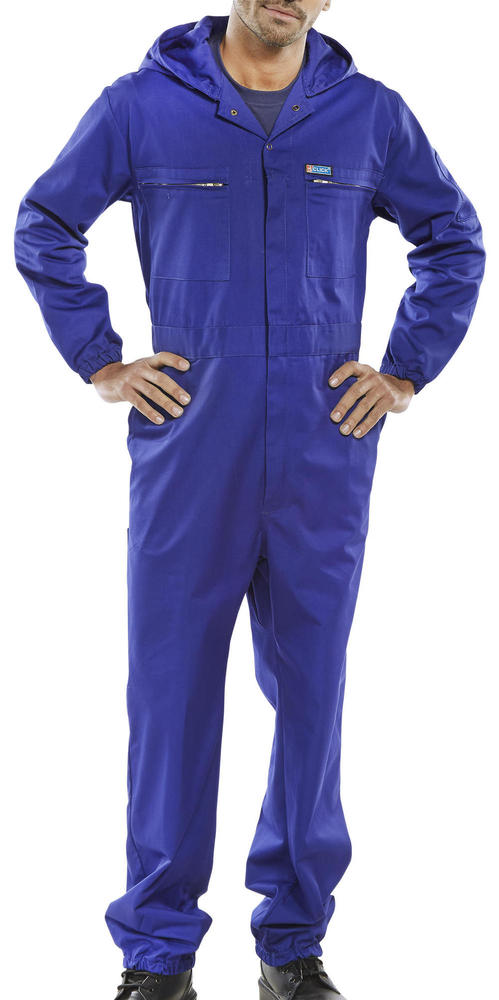 Beeswift PCBSHCAR Royal Blue C/W Hood Super Coverall
