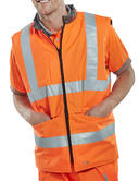 Beeswift BWENG Bodywarmer Reversible Hi Vis Orange