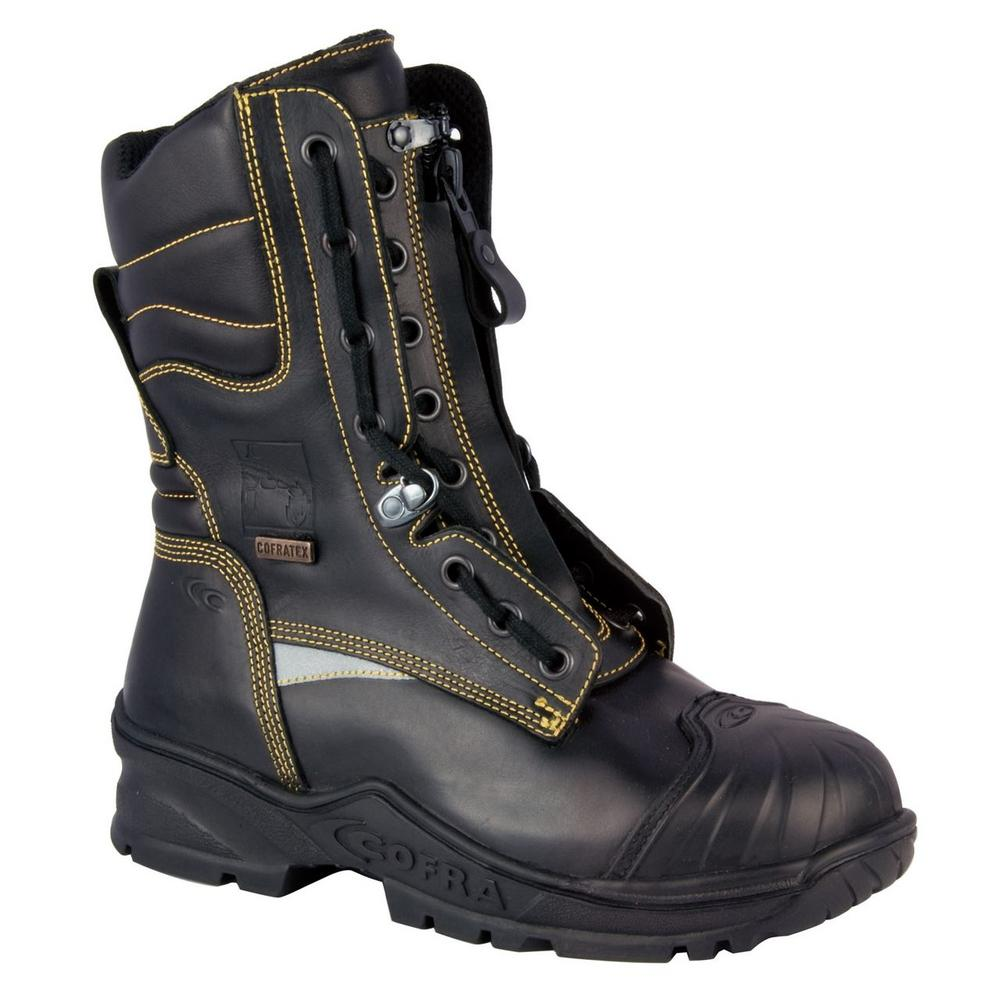Cofra Sprinkler Fire Boot with Zip & Lace Waterproof & Breathable Firemen