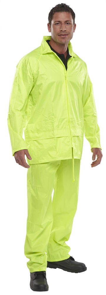 Beeswift NBDSSY Waterproof PVC Coating Hooded 2 Pieces Rain Suit