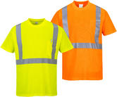 Portwest S190 Men Work T-Shirt High Visibility Reflective Tape