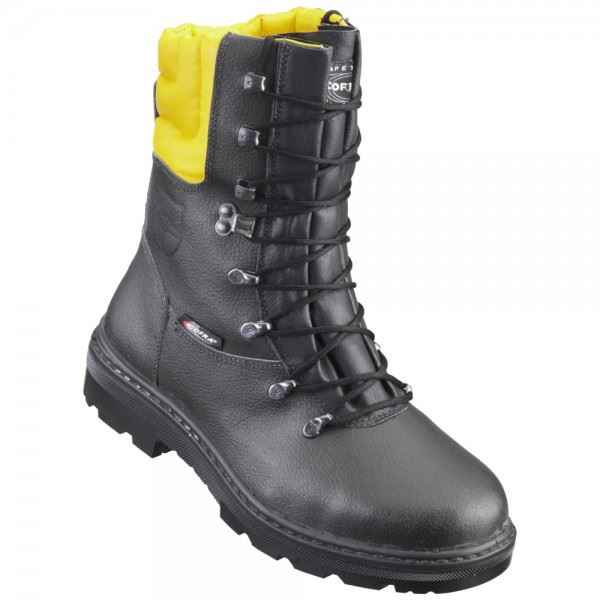 Cofra Woodsman BIS Class 1 Antistatic Breathable Chainsaw Protection Boots Black