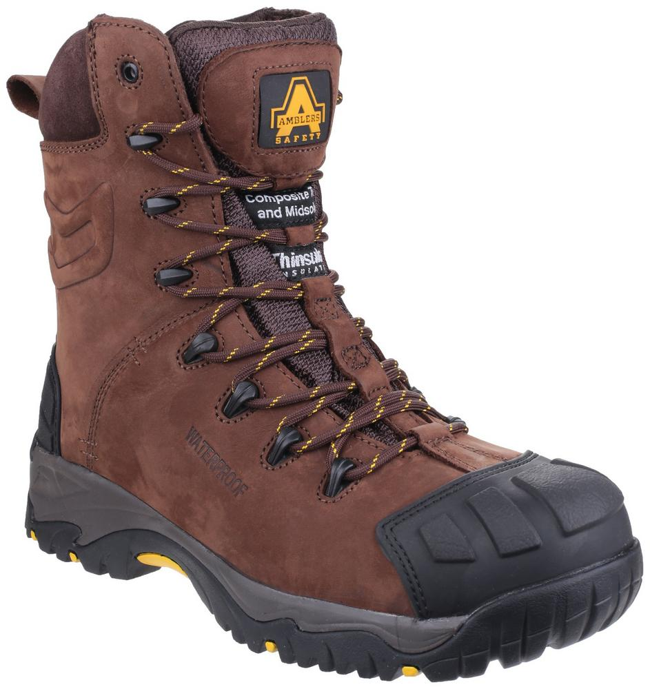 Amblers AS995 Pillar Men Hi-Cut Safety Boot Metal Free Waterproof Side Zip