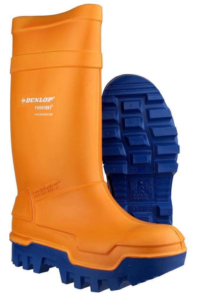 Dunlop C662933 Purofort Thermo+ Wellingtons full safety Orange - Blue Sole