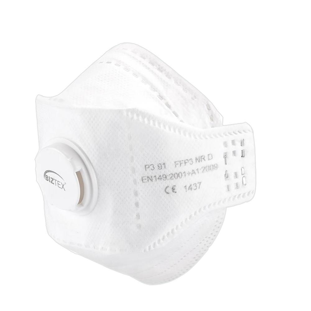 Portwest P391 EAGLE FFP3 Valved Dolomite Folded Single Use Dust Mask Respirator