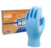 Showa N-DEX 9905PF Chemical & Biological Hazard Nitrile Disposable Gloves, Box of 50