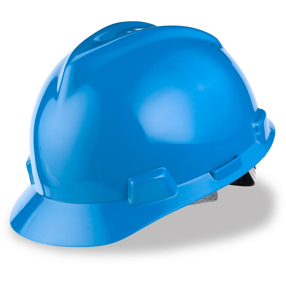 MSA V-Gard MK2 GV151 Safety Helmet HDPE Shell Blue Staz-On