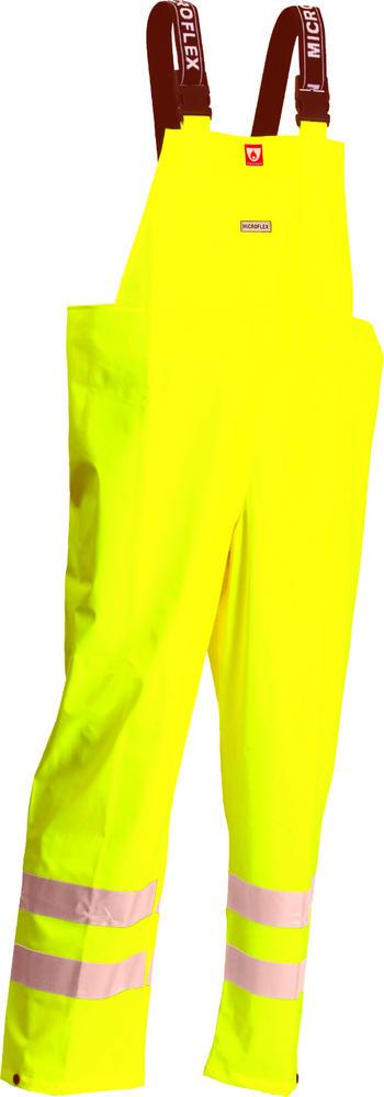Lyngsoe FR-LR546-53 Flame Retardant & Waterproof Bib & Brace Hi Visibility Yellow