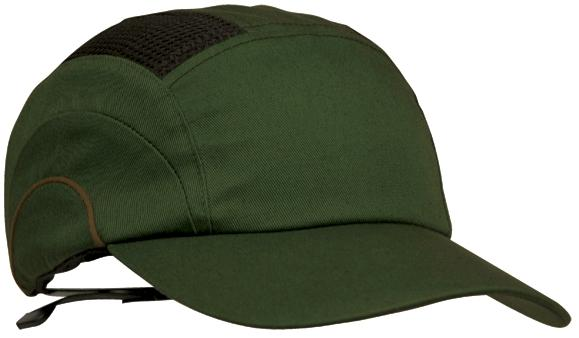JSP Hardcap A1+ 7cm Long Peak - Dark Green