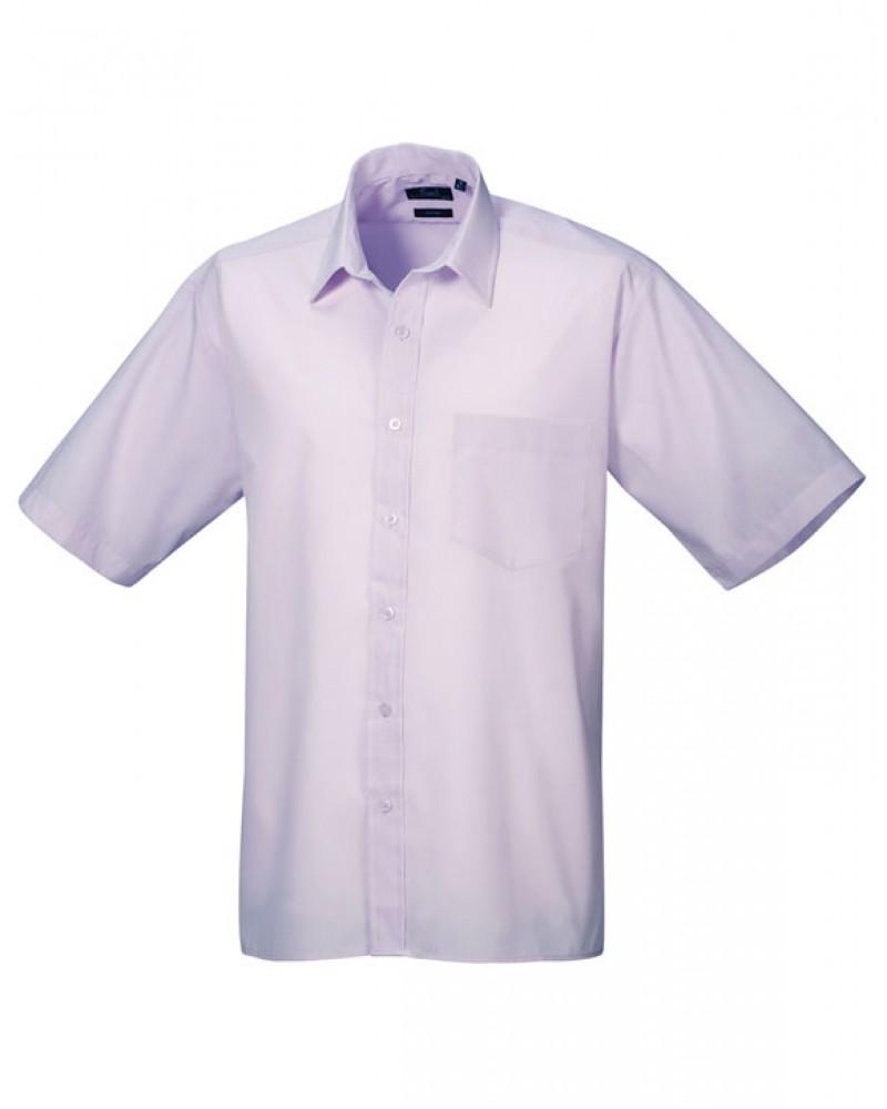 Premier PR202 Poplin Polycotton Short Sleeve Shirt Liliac