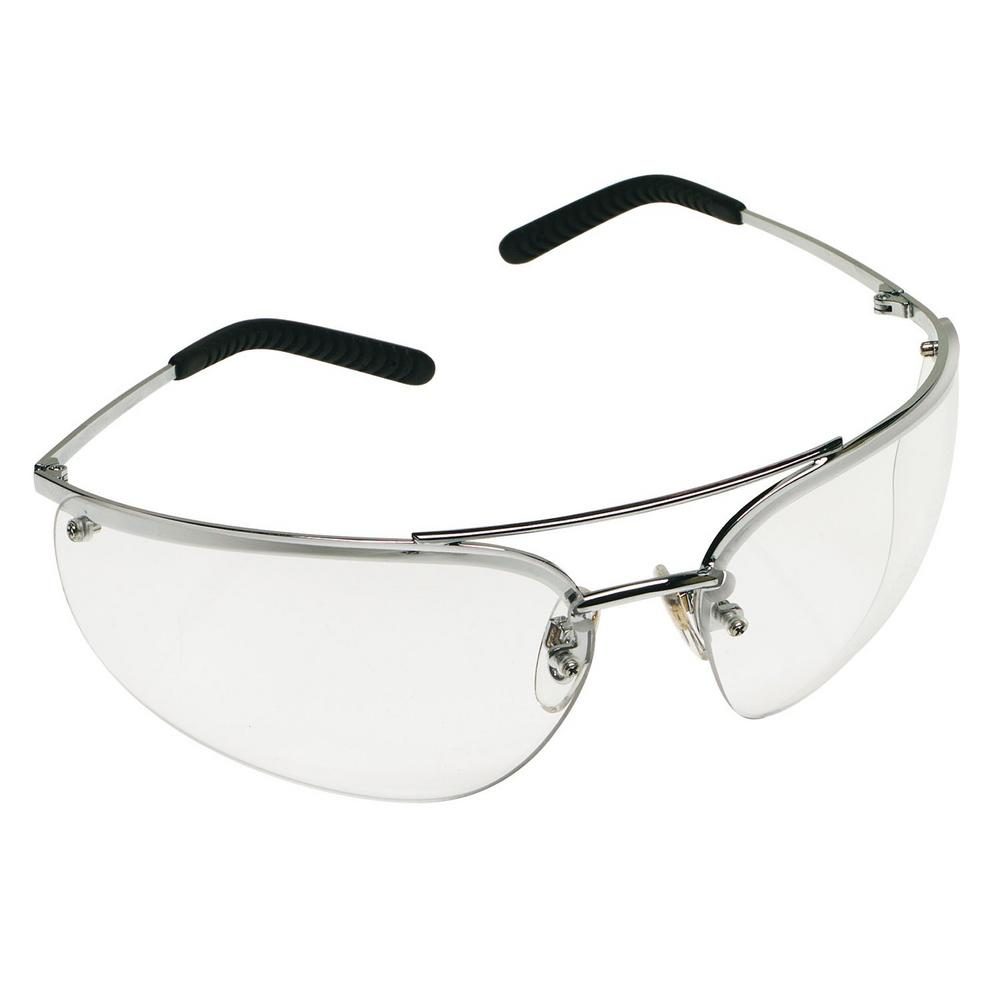 3M Metaliks Safety Glasses, Metal Frame Clear Anti-Fog Lens