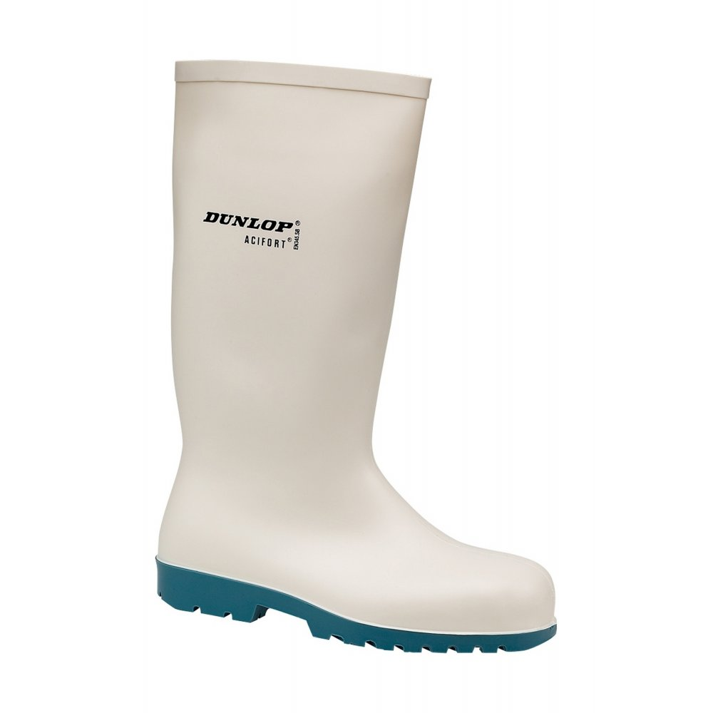 Dunlop Acifort A681331 SB SRA Safety Wellington Boot White - Size UK8