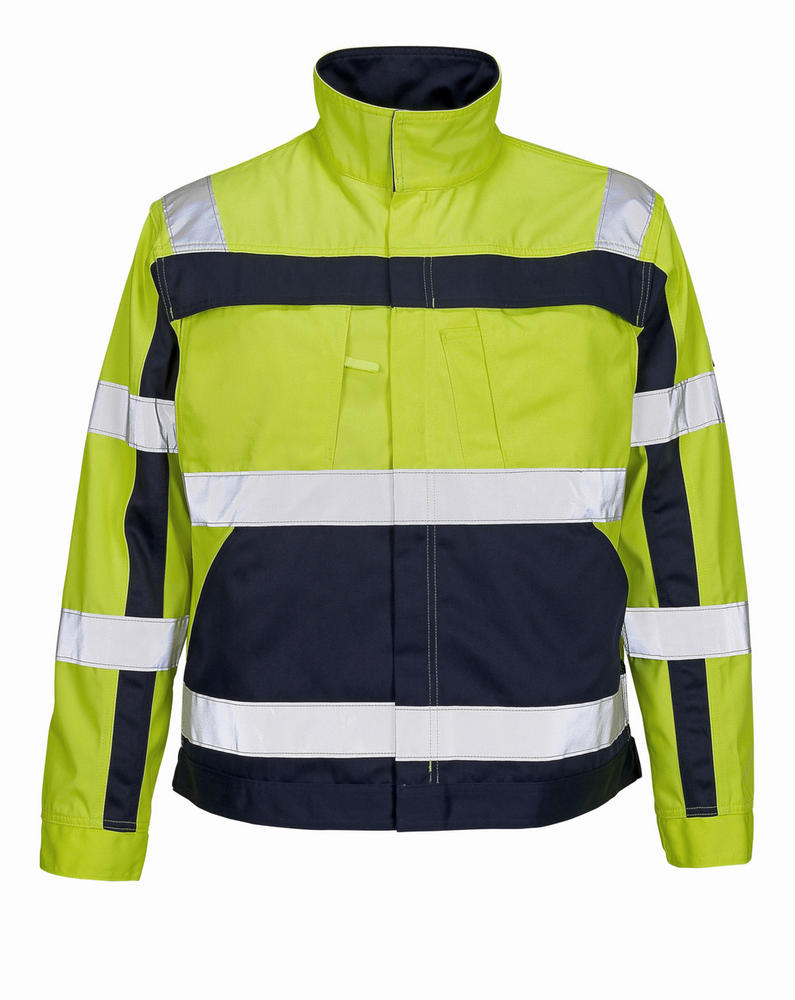 Mascot 07109-470 Cameta Hi Vis Polycotton Work Jacket with Reflective Bands
