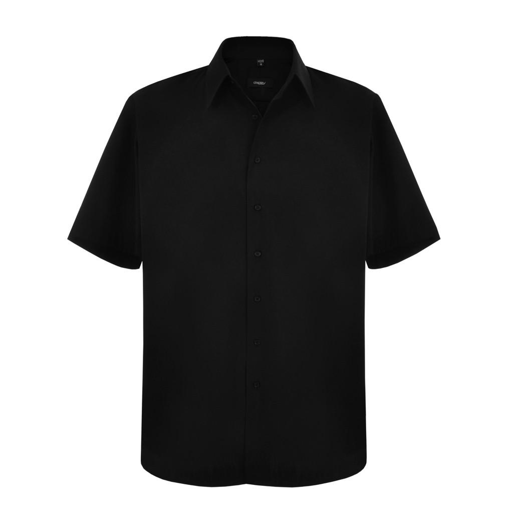 Disley HF922 Black Men Shirt Short Sleeve