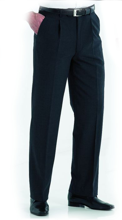 Disley MT2N Men Single Pleat Formal Trousers