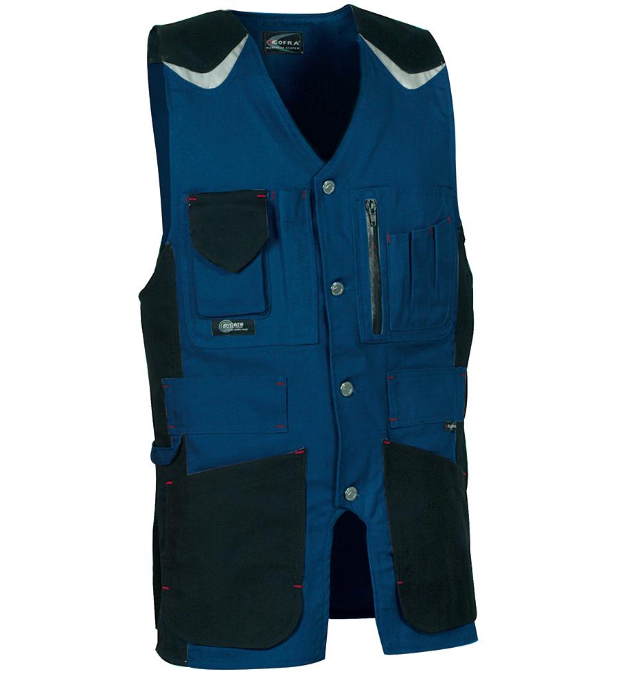 Cofra Craftsman Men Work Vest Multipocket Tools Waistcoat