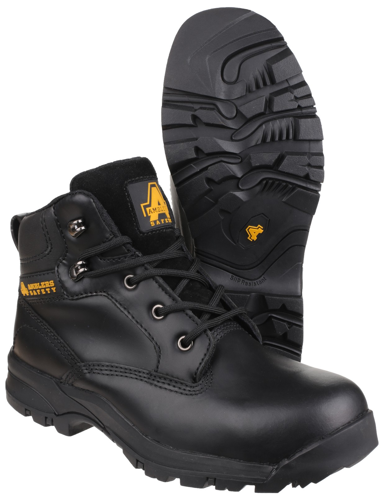 Precios Amblers Steel Lace-Up Textile Lined Womens Boots - Black - Size 5 Suministro de venta YeGUrGOBqo