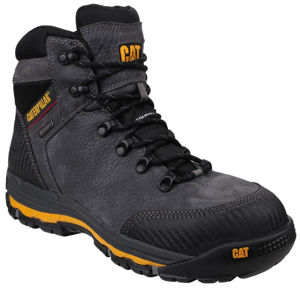 "Caterpillar Munising 6"" S3 HRO SRC Dark Shadow Composite Toe Waterproof Safety Boot"