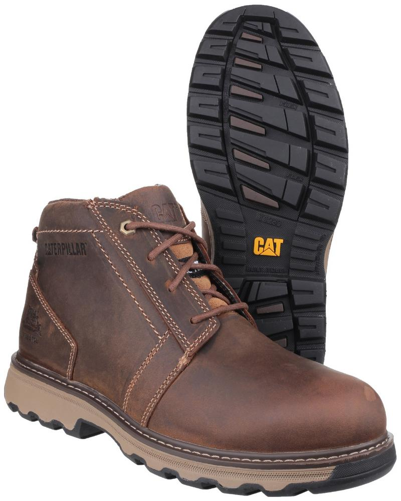 Caterpillar Parker S1P HRO SRC Full Grain Leather Safety Boot