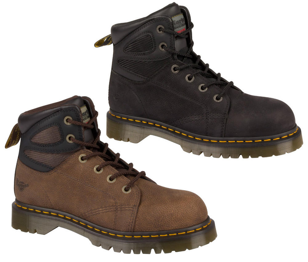 Dr Martens Fairleigh ST 6 eye Lace up SRA, Steel Toe Cap Safety Boot
