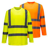 Portwest S178 Men Hi-Vis Long Sleeved T-Shirt