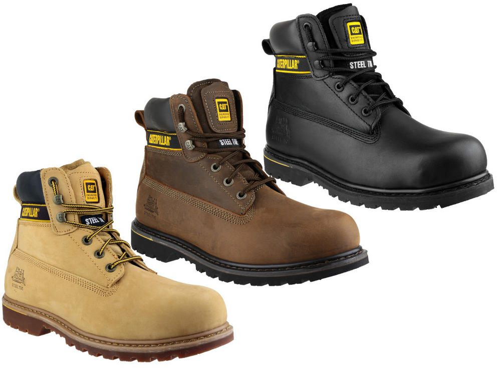 Caterpillar Cat Holton Steel Toe Cap Goodyear Welted SB HRO Safety Boots