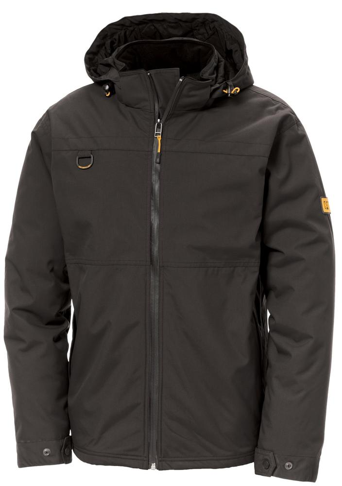 Caterpillar 1310017 Chinook Work Waterproof Hooded Rain Jacket Black