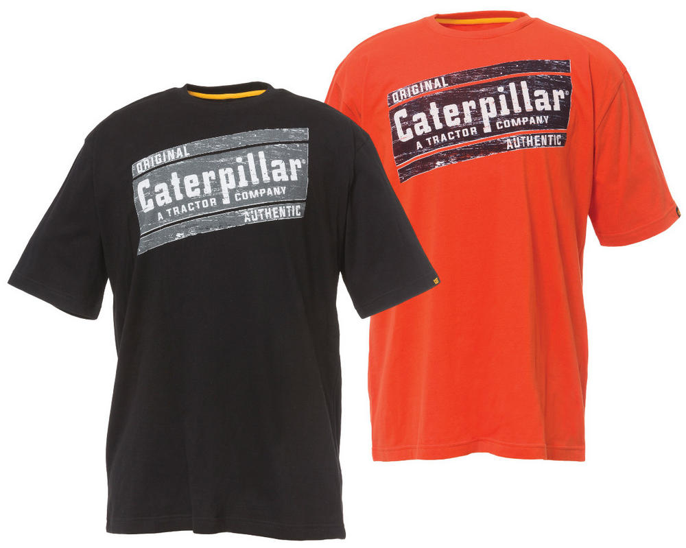 Caterpillar 1510266 Parallelogram Short Sleeve 100% Cotton Work T-Shirt
