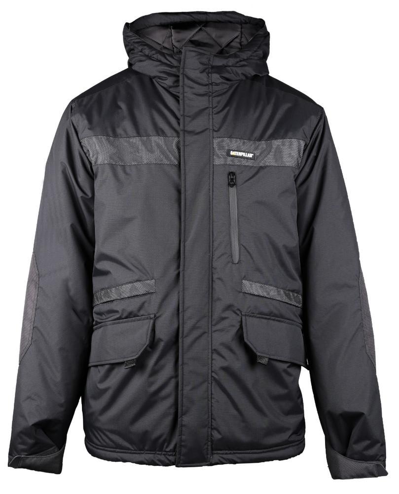 Caterpillar 1310006 Night Flash Mens Water Resistant Reflective Jacket Black