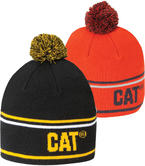 Caterpillar C1120004 Vintage Beanie Hat Acrylic Pom Pom Unisex Work Snow Cap