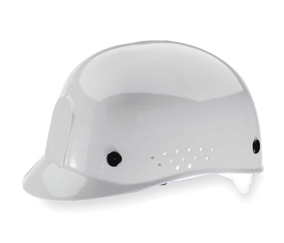 Bump Cap With Low Profile Crown And Perforated Sides Polyethylene White