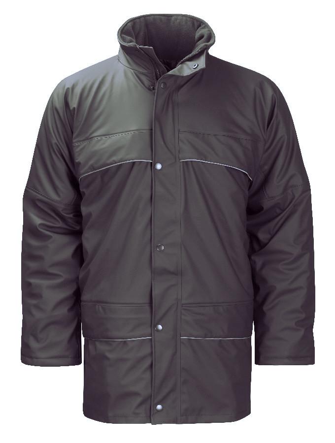 Orbit Hydra Flex HFIJ Padded Waterproof Breathable Black Rain Jacket