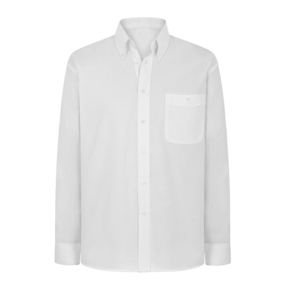 Arvello Men Shirt Cotton Button Down White