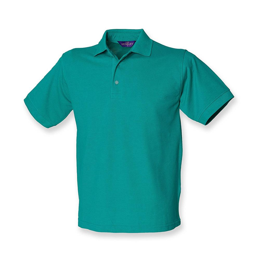 Henbury H400 Heavy PolyCotton Pique Polo Shirt Jade Green, Large
