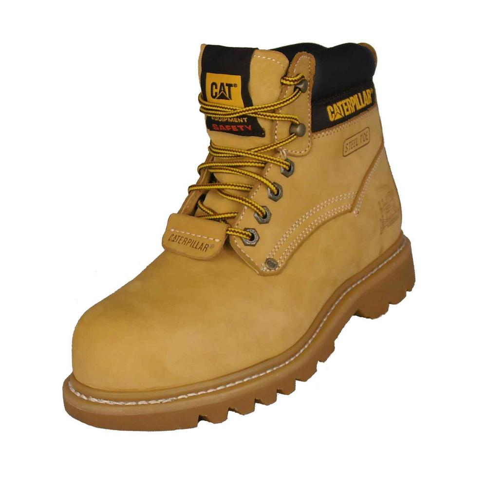Caterpillar CAT Sheffield II Men Safety Boots Tan Nubuck Upper Steel Toe Cap SB