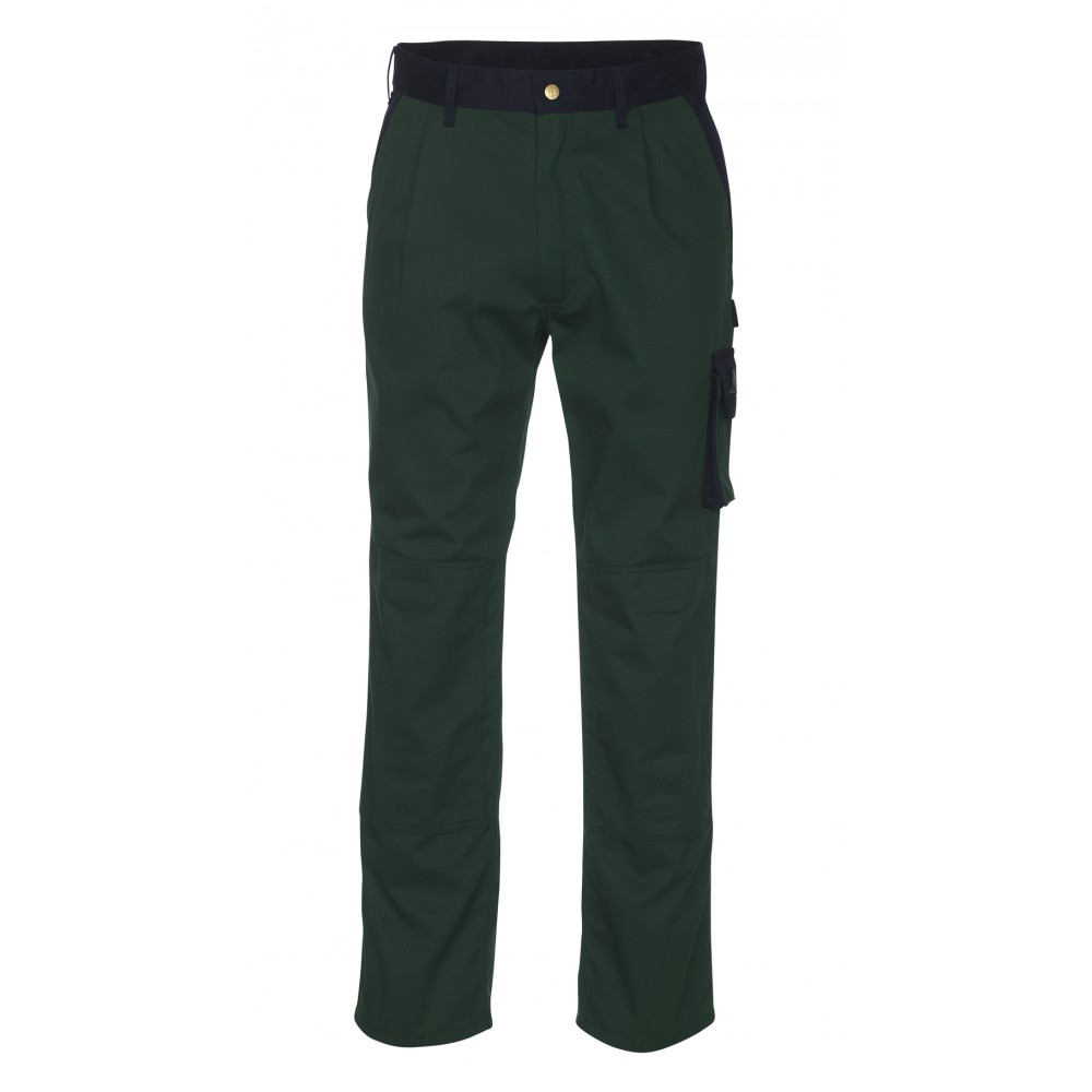 Mascot Torino Men Work Two Tone Polycotton Trousers with Knee Pad Pockets