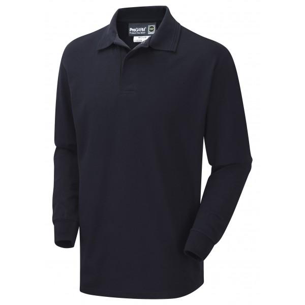 6dd60af55993 ProGarm 5280 Flame Retardant Anti-Static Workwear Navy FR Polo Shirt