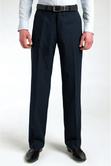 Clubclass Conran Single Pleat Pinstripe Navy Executive Office Men Trousers