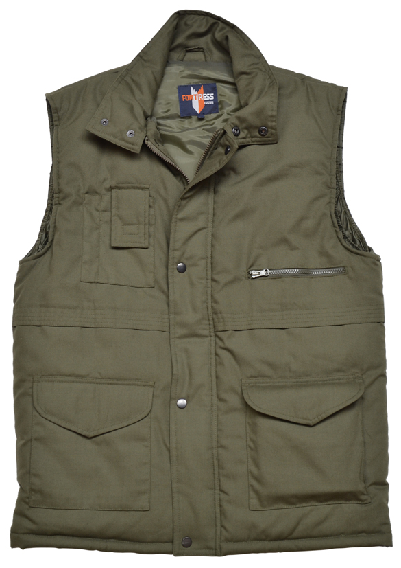 Castle Clothing 222 Wroxham Mens Quilted Bodywarmer Polycotton Multipocket Gilet