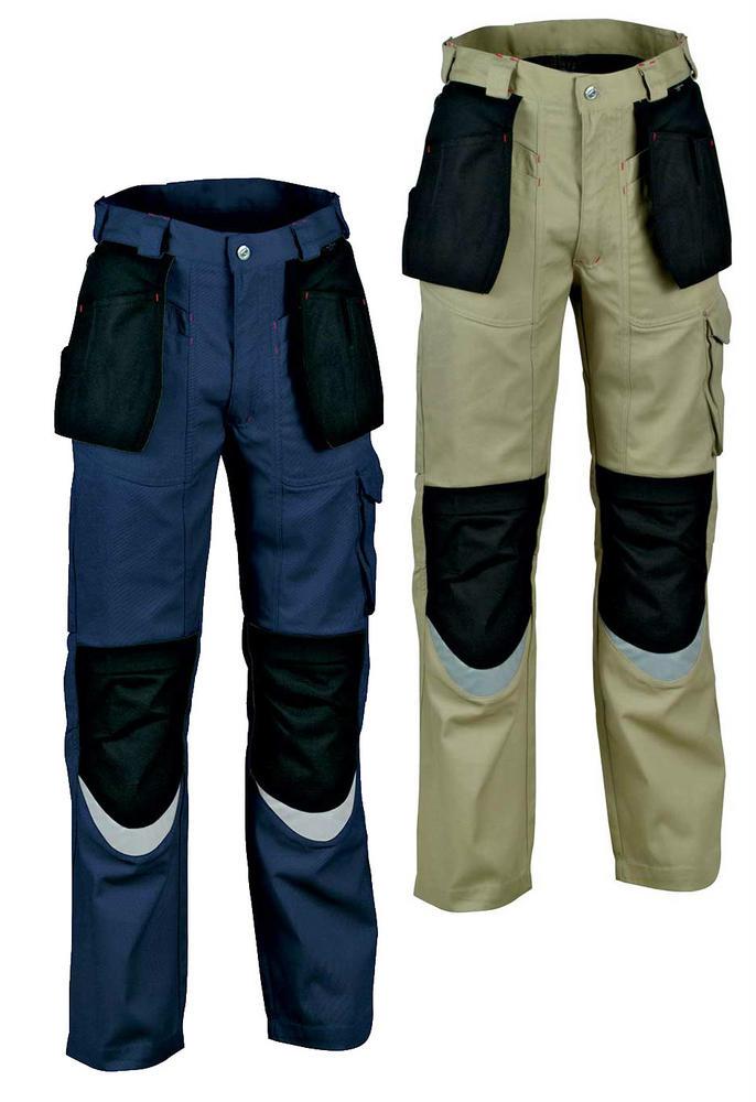 Cofra Bricklayer Holster Pockets Reflective Strips Kneepad Work Trouser