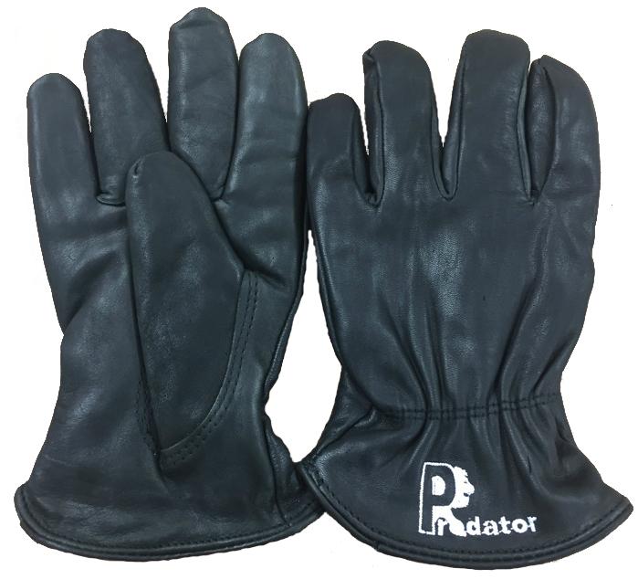 Predator Prestige Hide Drivers Gloves Black Leather Rigger Gloves