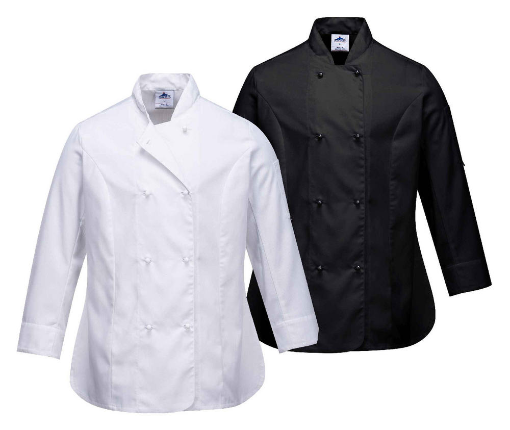 Portwest C837 Rachel Ladies Chef Jacket Polycotton