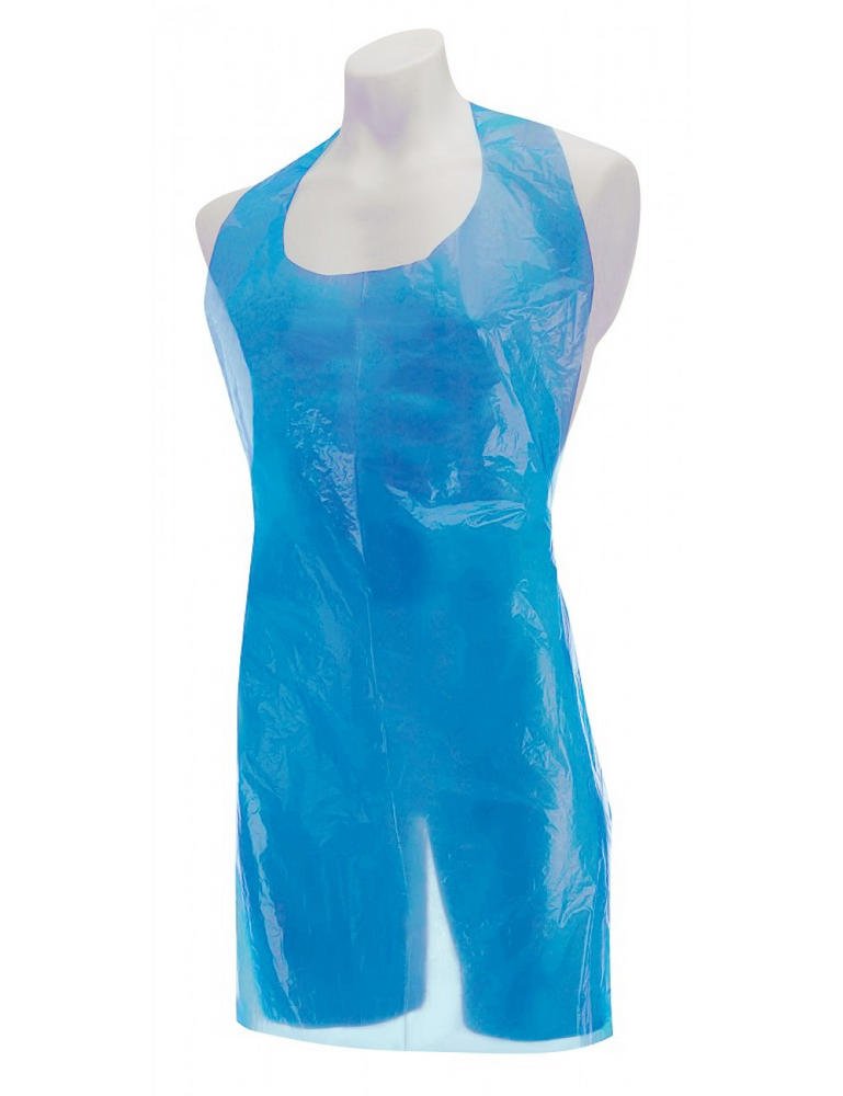 "Jodal PH155 Roll of 200 Disposable Aprons Polythene Blue 40"" x 26"""