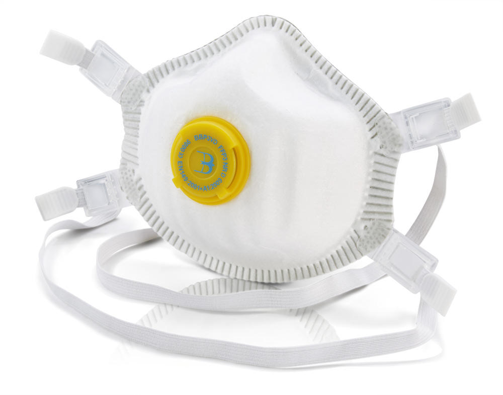 Beeswift B-Brand BBP3VD Disposable P3 Dust Masks Valved Pack of 5