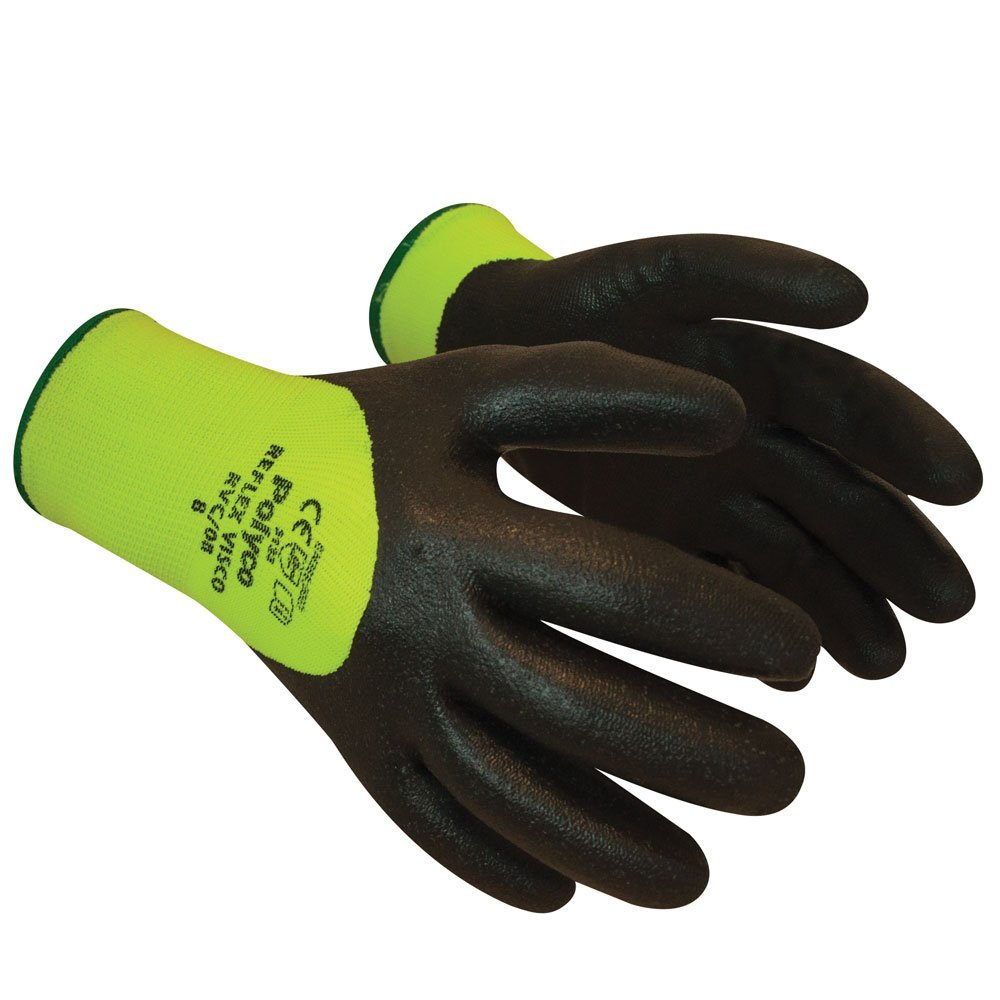 Polyco VISCO RVC Reflex Thermal Hi Vis Nitrile Coated Glove Size-9