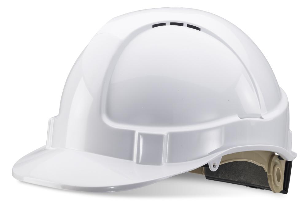 Beeswift B Brand Industrial Safety Helmet Vented White BBVSHW